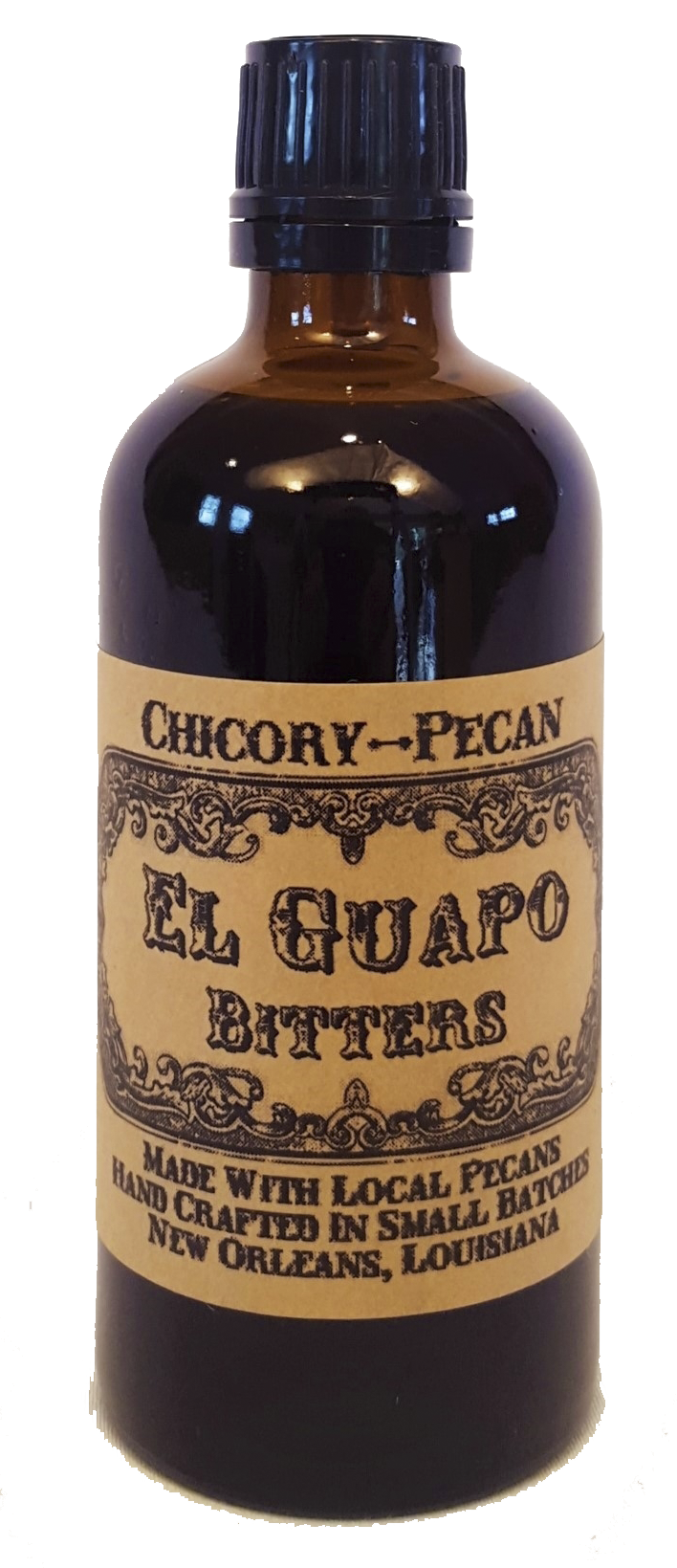 El Guapo chicory-pecan bitters distributed by Samoras Fine Foods for your culinary and cocktail applications.png